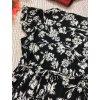 Černo-bílé šaty s květy New Look