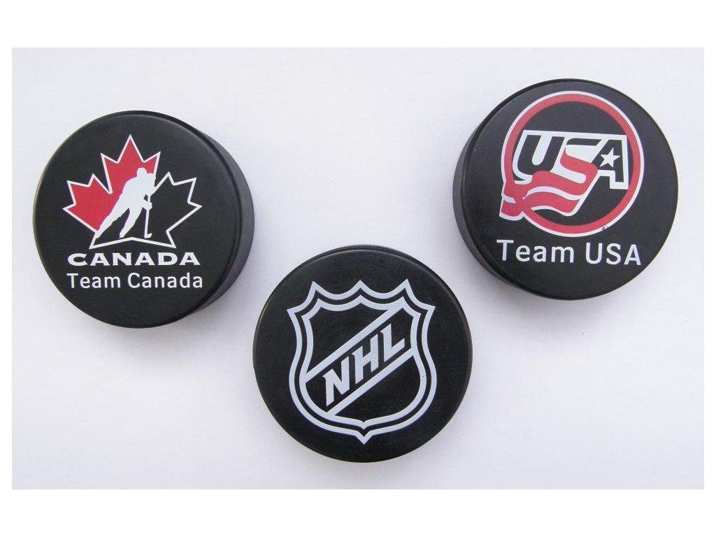 Hokejový puk senior s potiskem NHL