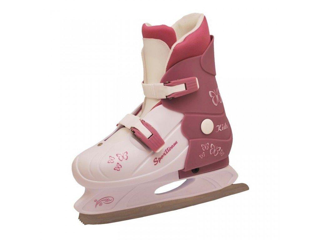 Dívčí zimní brusle Rulyt Sportteam bílo-fialkové