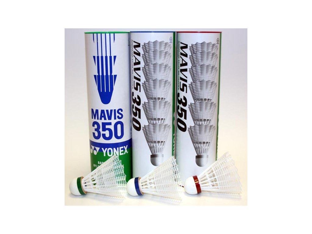Badmintonové míče Yonex Mavis 350 6 ks bílé