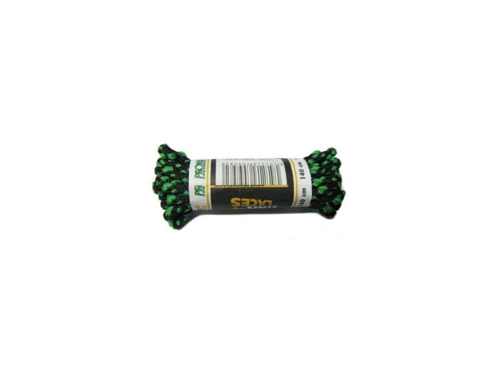 Tkaničky Proma Star Laces 160 cm zelená s černou