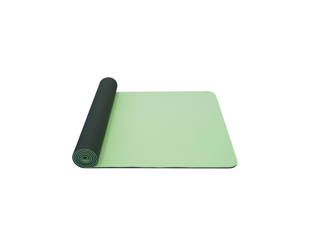 Yoga Mat Yate dvouvrstvá světle zelená/tmavě zelená