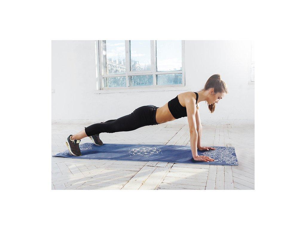 Yoga Mat Yate - vzor C, modrá