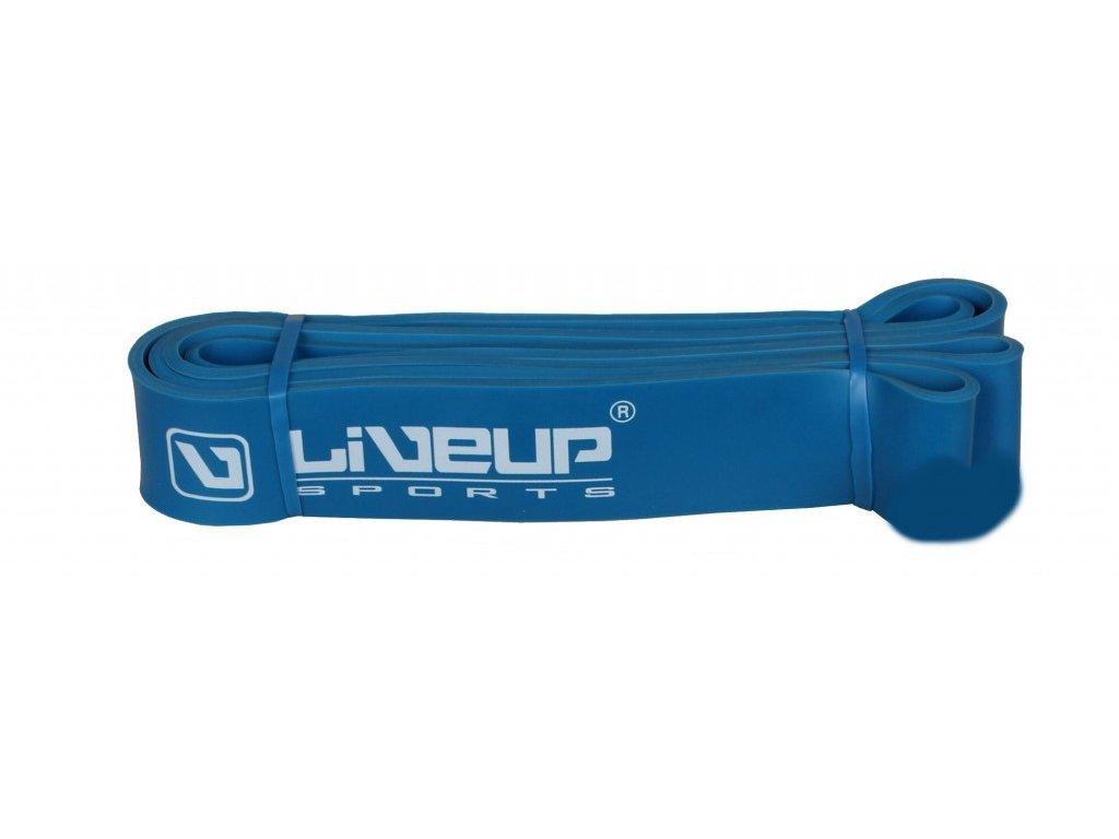 Posilovací Guma LiveUp 100 cm Strong modrá