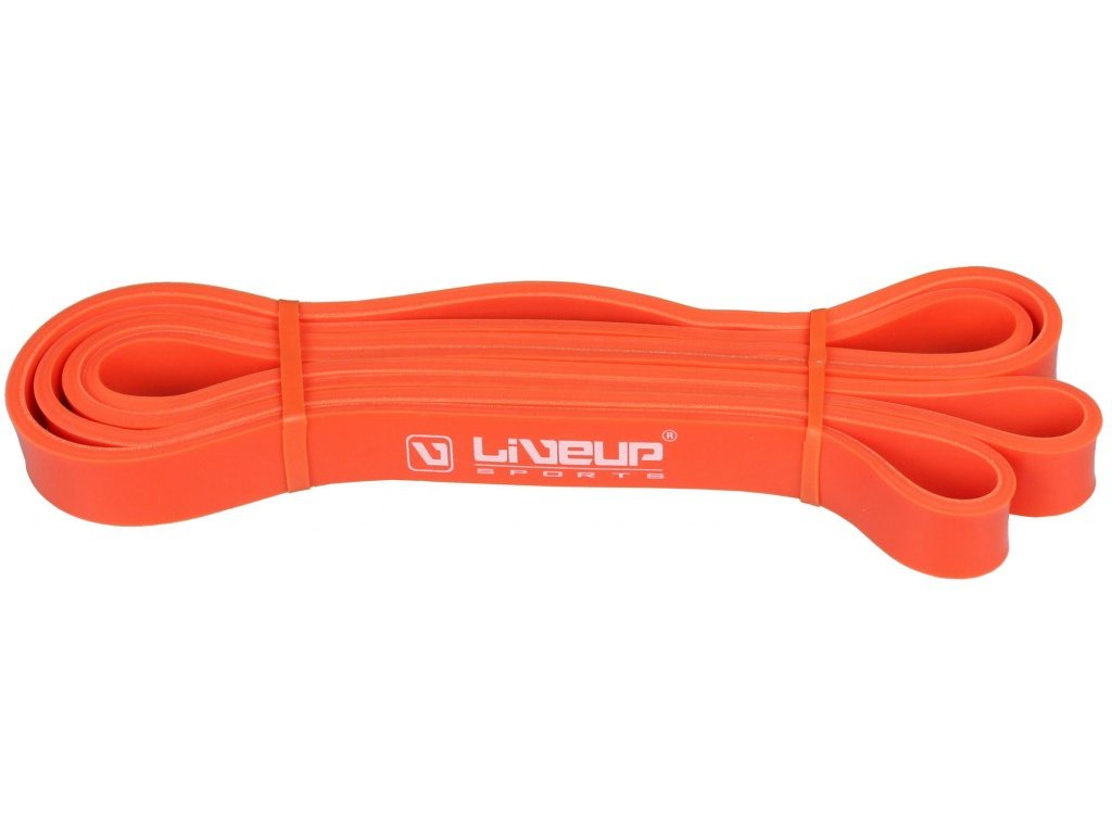 Posilovací Guma LiveUp 100 cm Light oranžová