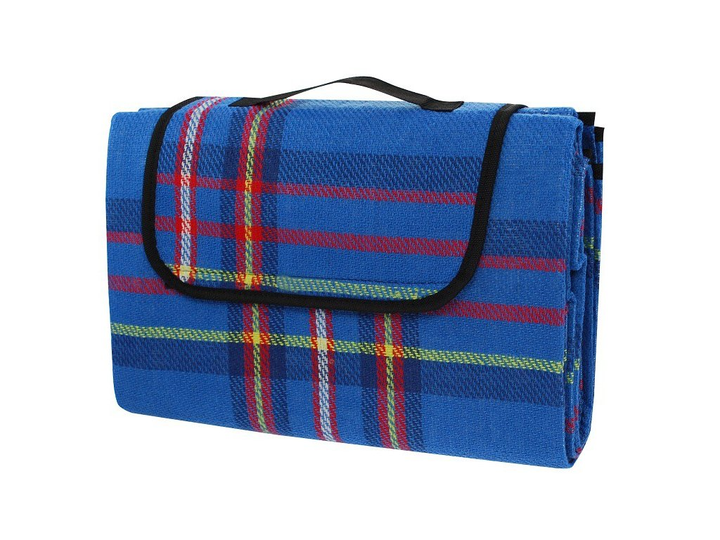 Pikniková deka Calter One 150x130 cm modrá kostka