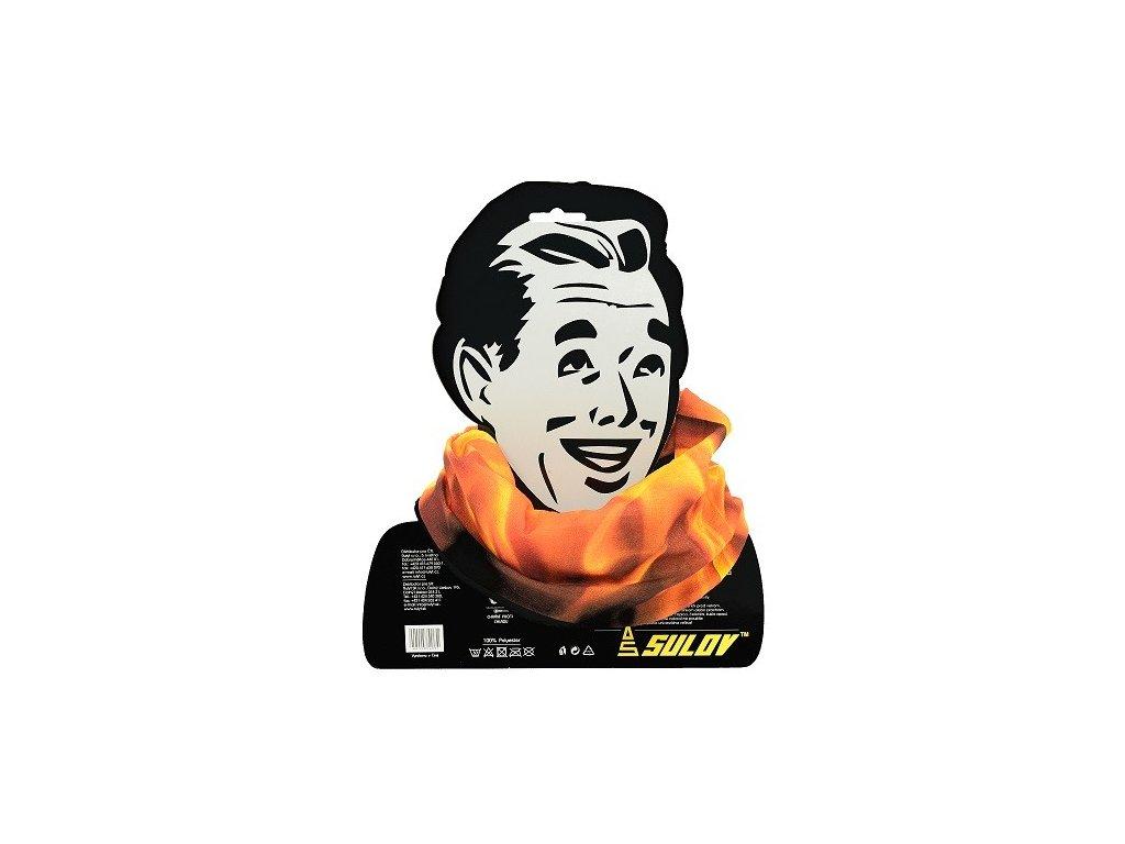 Sulov sportovní šátek s fleece plamen