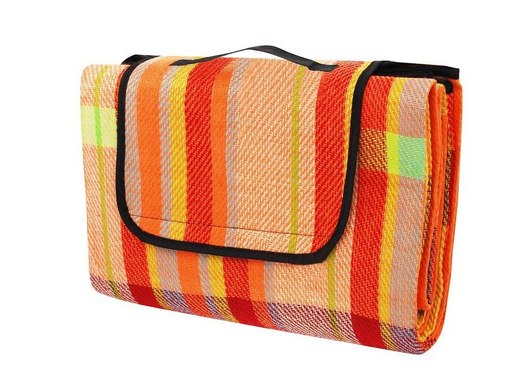 Pikniková deka Calter Party 200x150 barevný proužek