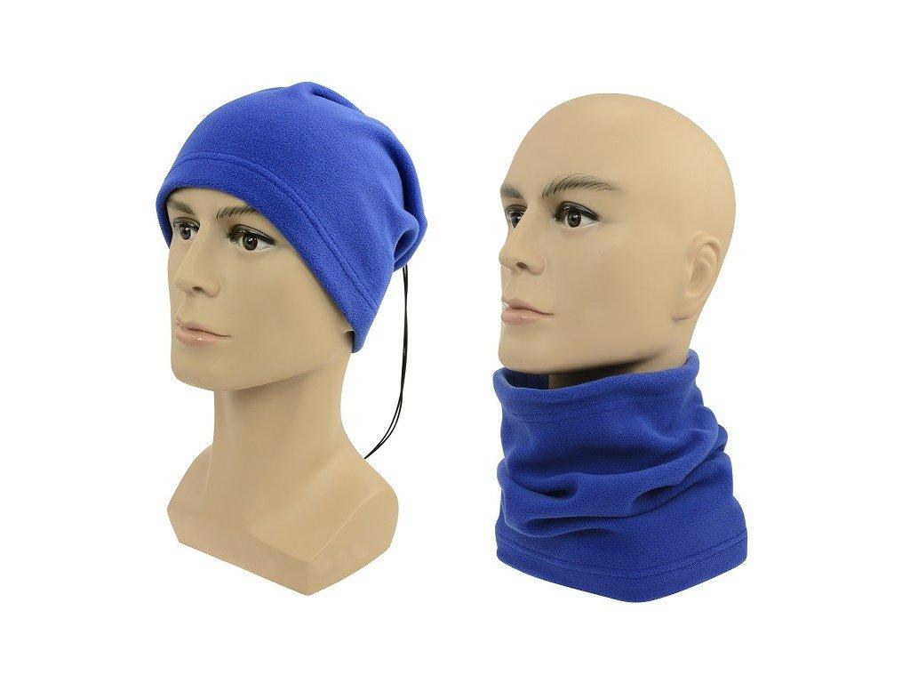 Multifunkční šátek 2v1 Fleece modrý