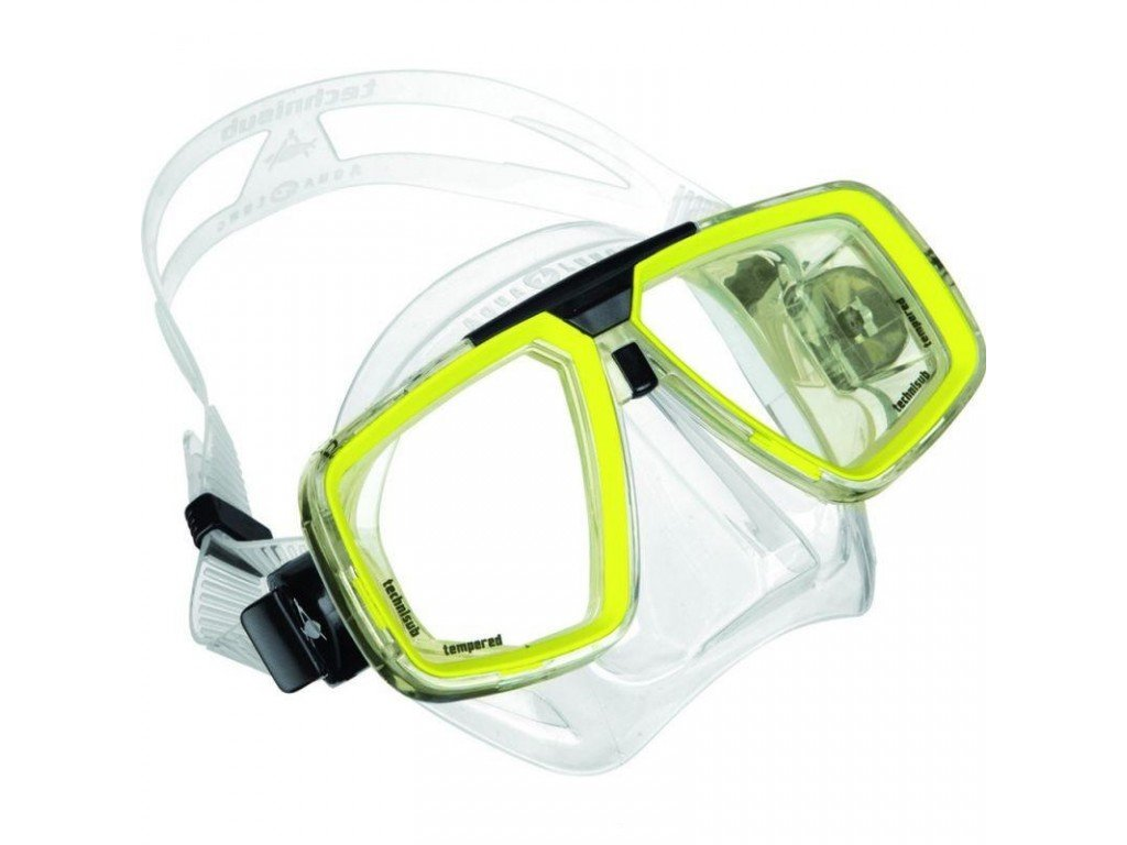 Maska Technisub Look transparent lime