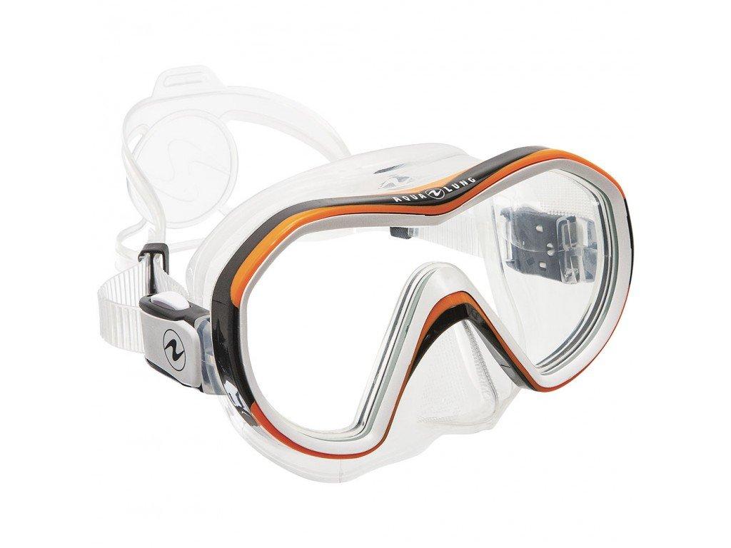 Maska Aqualung Reveal X1 silikon transparent oranžová