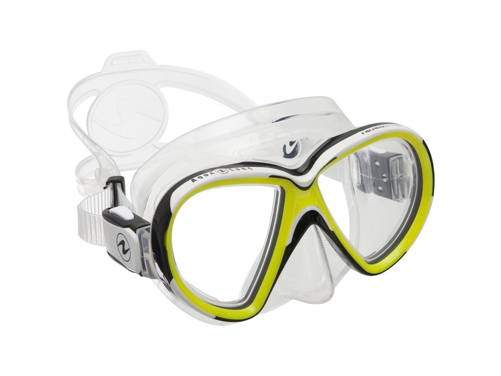 Maska Aqualung Reveal X2 silikon transparent lime