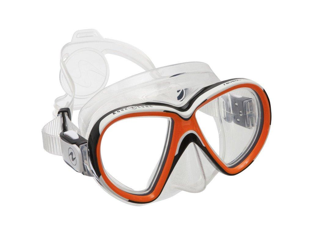 Maska Aqualung Reveal X2 silikon transparent oranžová