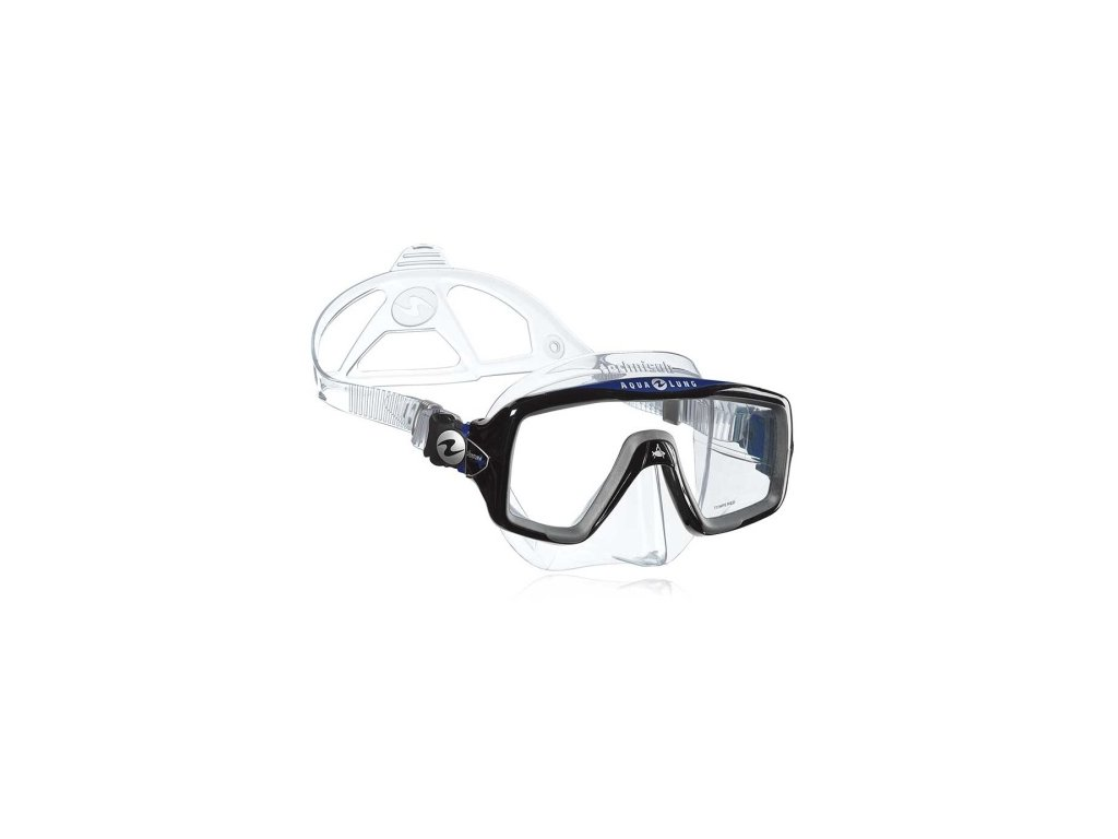 Maska Technisub Ventura+ transparent black/blue