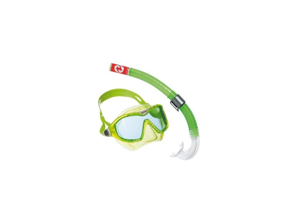 Set maska + šnorchl Technisub Combo Reef MIX lime