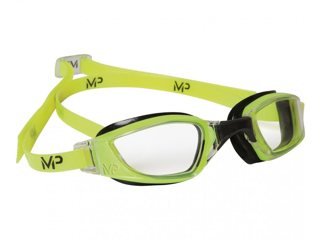 Plavecké Brýle Michael Phelps XCEED čirý zorník žlutá/černá
