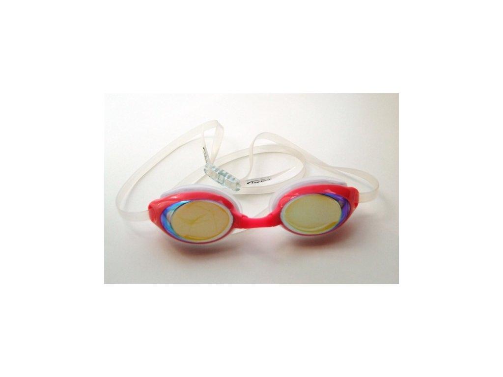 Dětské plavecké brýle Topswim Dolphin Mirror pink