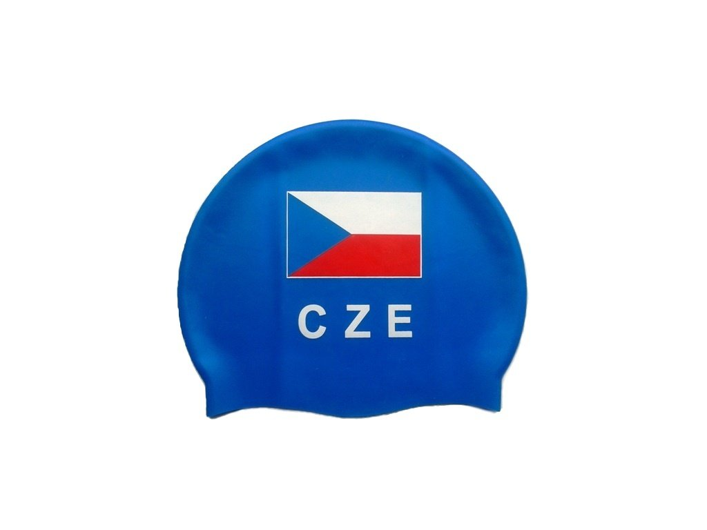 Plavecká čepice Topswim s vlajkou ČR
