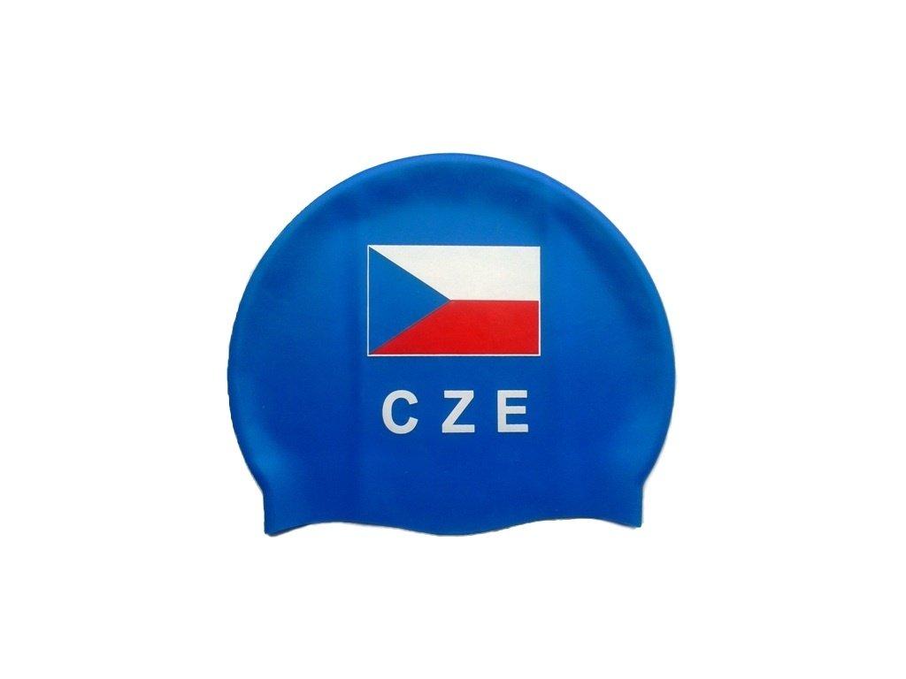 Plavecká čepice Topswim s vlajkou ČR blue
