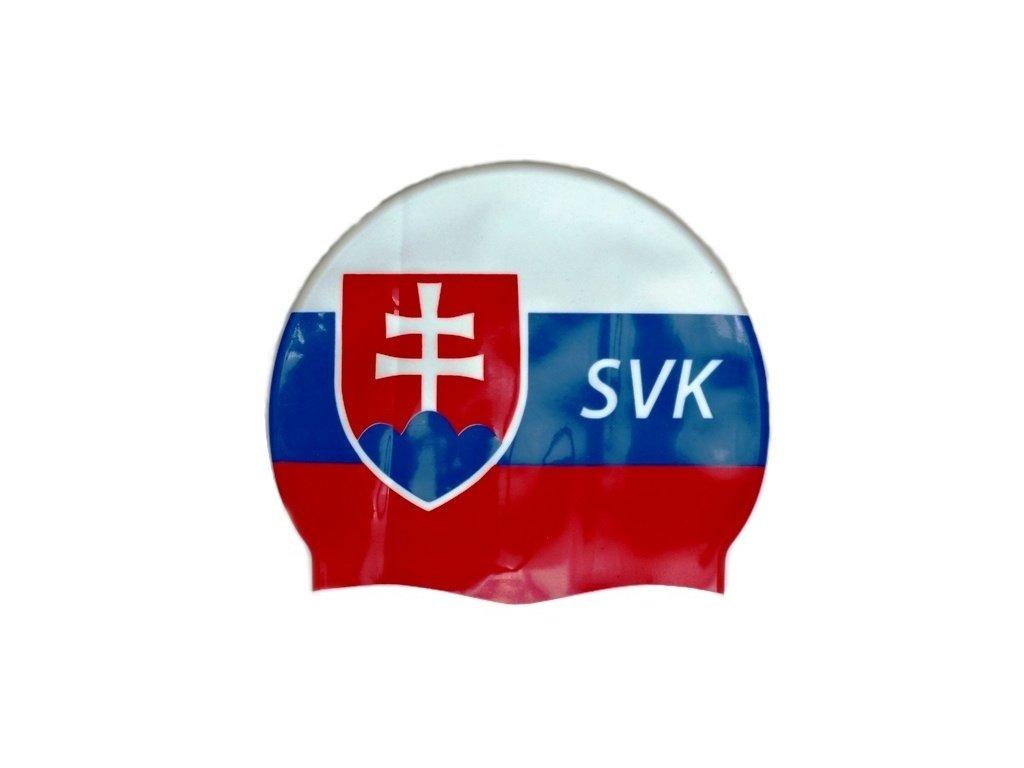Plavecká čepice Topswim s vlajkou SR