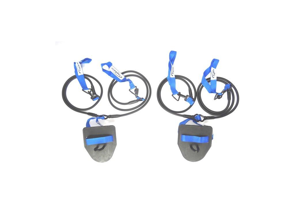 Plavecké prsařské gumy s packami Topswim lehké