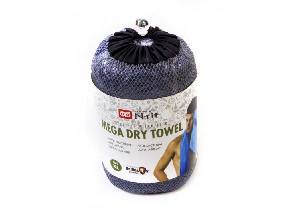 Ručník N-Rit Mega Dry Towel XL Šedý