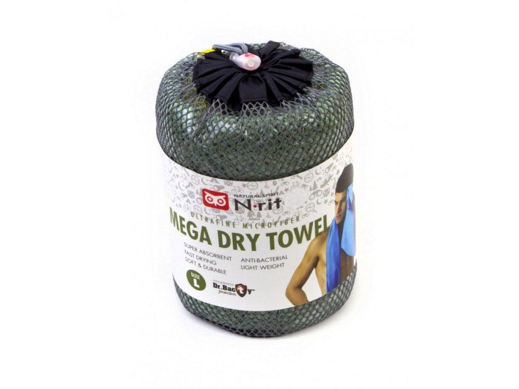 Ručník N-Rit Mega Dry Towel L Zelený