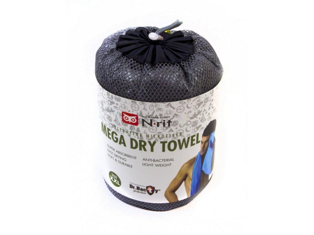 Ručník N-Rit Mega Dry Towel XXL Šedý