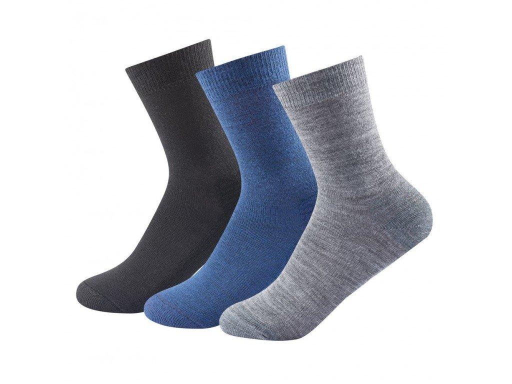 Ponožky Devold Daily meidum Kids 3 páry 28-30