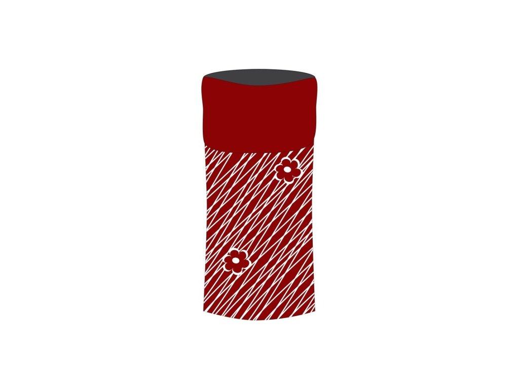Sulov sportovní šátek s fleece červeno-bílý
