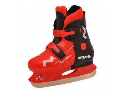 Chlapecké zimní brusle Rulyt Sportteam černo-červené