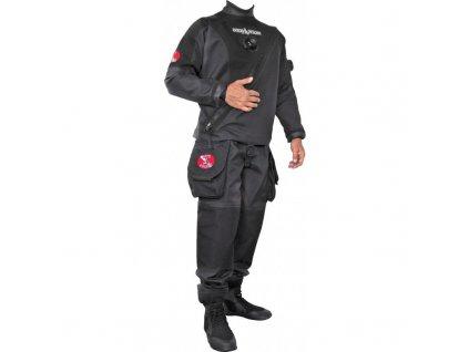 Trilaminátový suchý oblek Dive System Solo černý