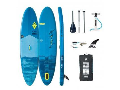 Paddleboard s příslušenstvím Aquatone Wave Plus 11.0