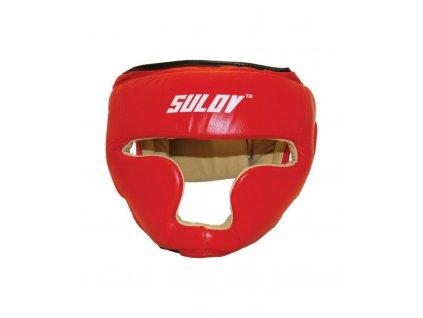 Sulov Box chránič hlavy uzavřený kožený červený