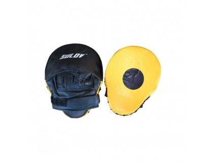 Box lapa prohnutá Sulov kožená žluto-černá