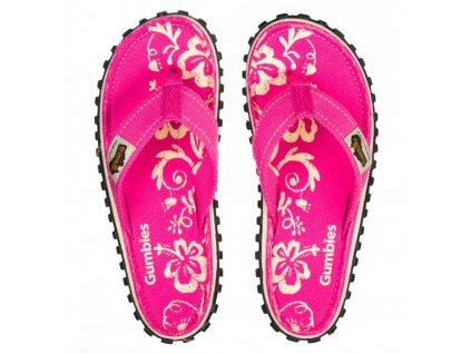 Pantofle Gumbies Hibiscus pink 41