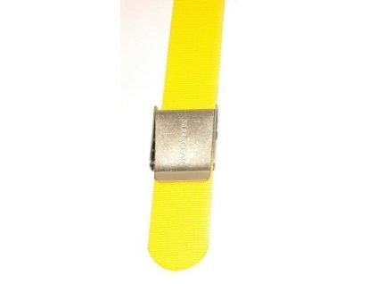 Opasek na závaží s kovou přezkou žlutý