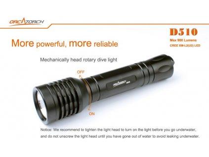 Svítilna Orcatorch D510