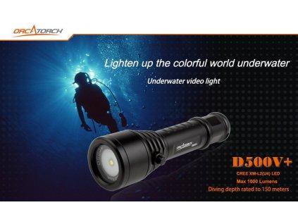 Video Svítilna Orcatorch D500V+