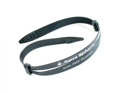 Silikonový pásek k brýlím Aqua Sphere černý 16mm