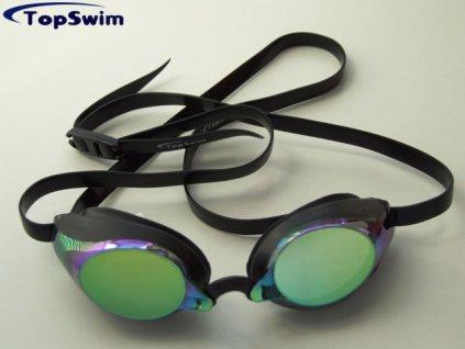 Plavecké brýle Topswim Race mirror Gold