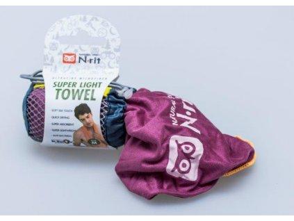 Ručník N-Rit Super Light Towel L Purpurový