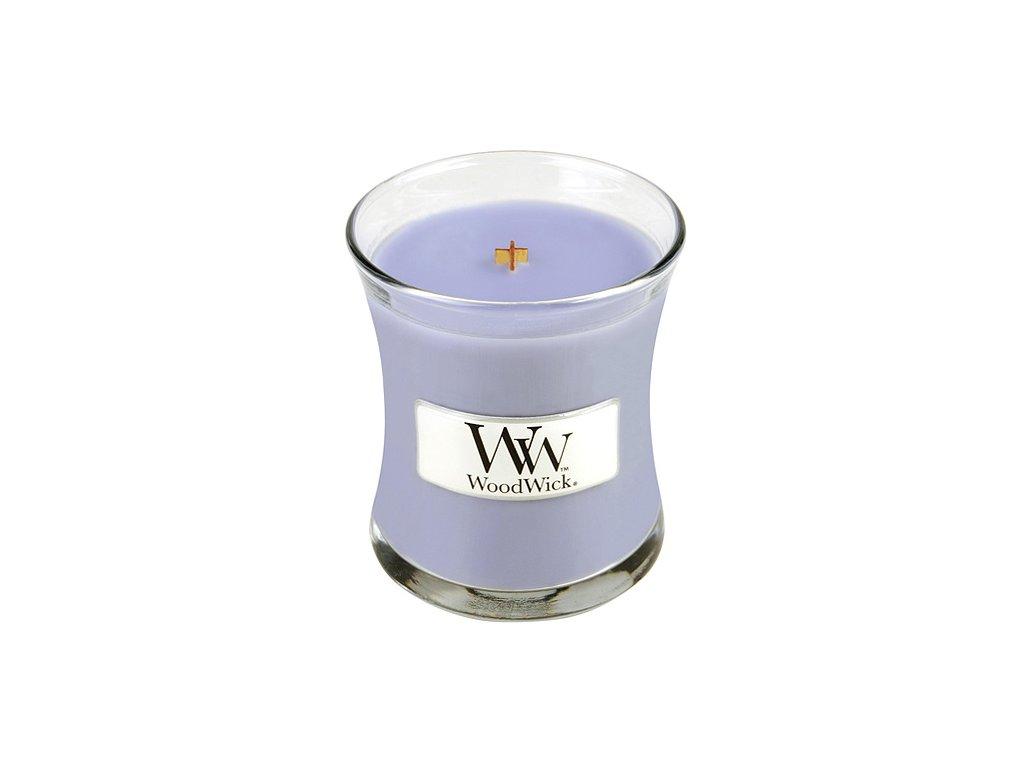 Svíčka oválná váza WoodWick levandulová lázeň, 85 g