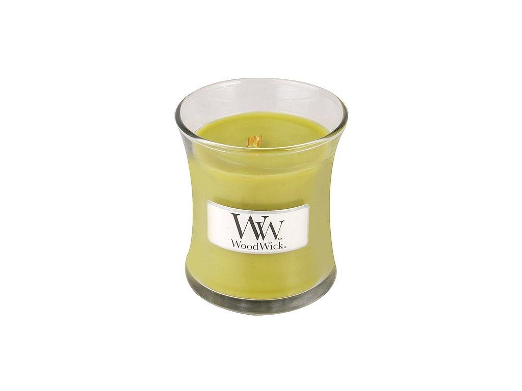 Svíčka oválná váza WoodWick vrbové květy, 85 g