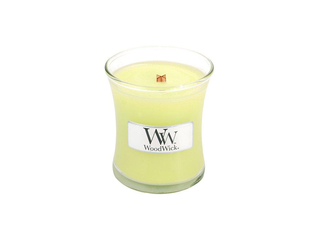 Svíčka oválná váza WoodWick citrónová tráva a lilie, 85 g
