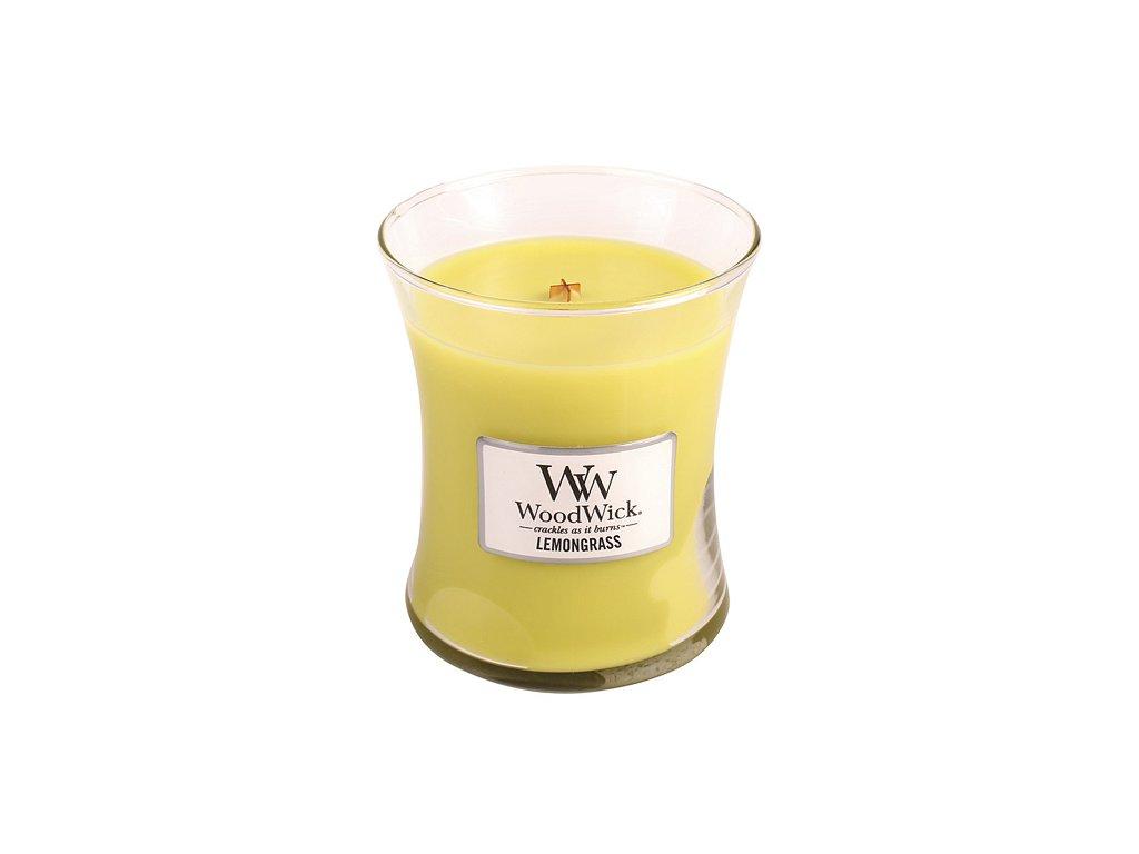 Svíčka WoodWick citrónová tráva, 275 g