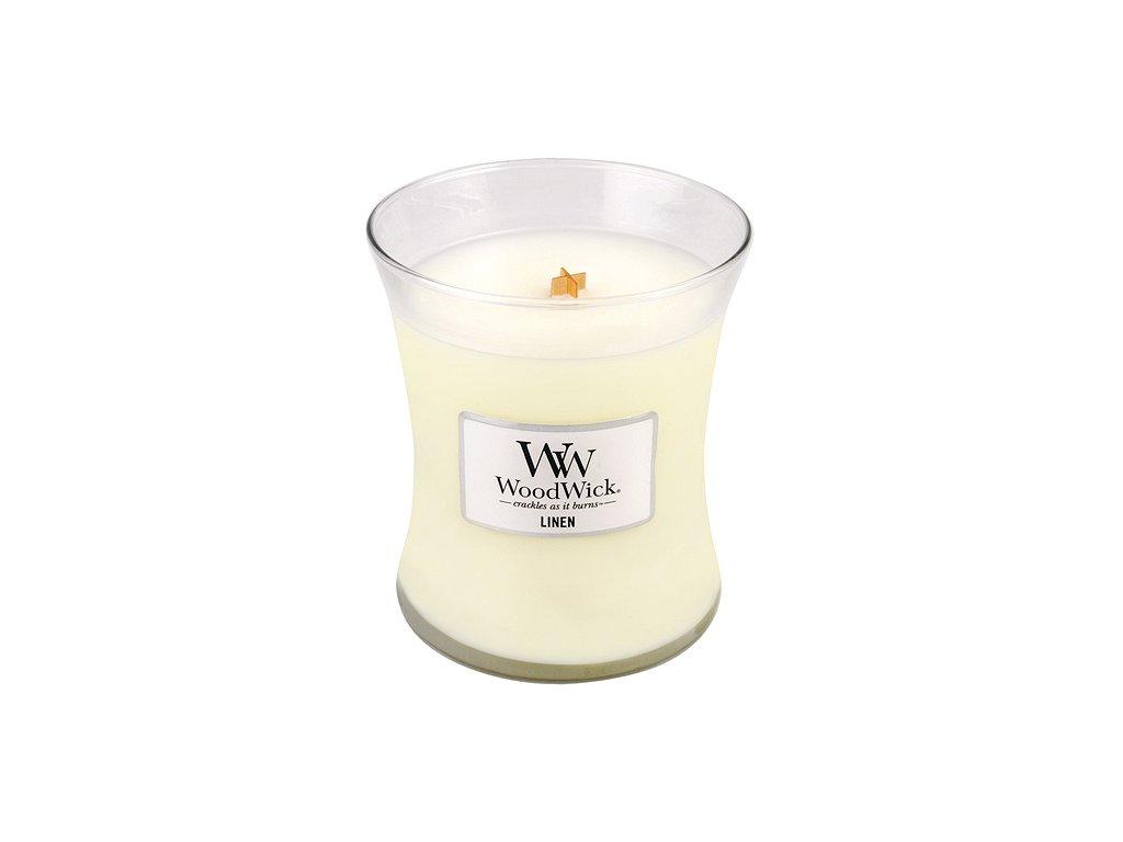 Svíčka WoodWick čisté prádlo, 275 g