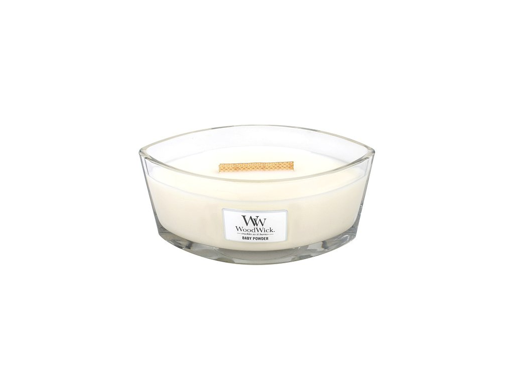 Svíčka WoodWick dětský pudr, 453.6 g