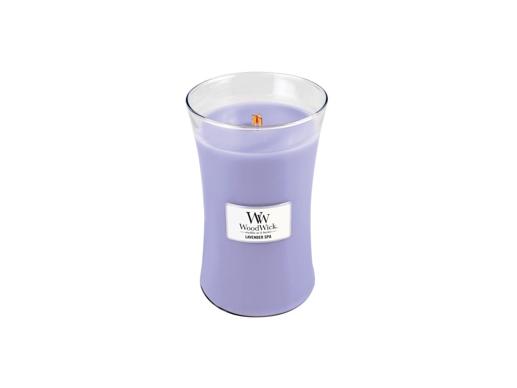 Svíčka WoodWick Lavender spa, levandule, 609,5 g