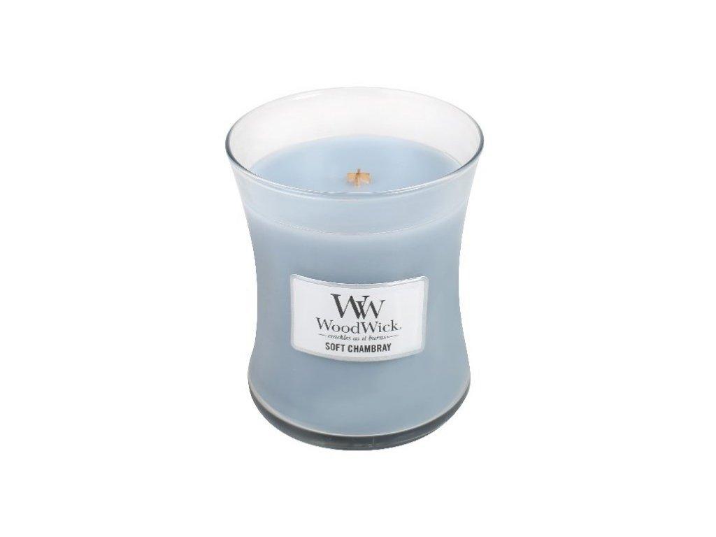 Svíčka WoodWick čisté prádlo, jasmín a růže, 609,5 g